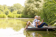 Senior couple relaxing Royalty Free Stock Image