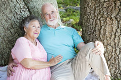 Senior Couple - Relaxing Together Royalty Free Stock Photos