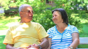 Senior couple relaxing together stock footage
