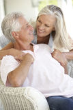 Senior Couple relaxing together Royalty Free Stock Photography