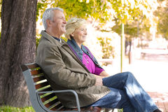 Senior couple relaxing together Royalty Free Stock Images