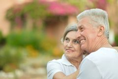 Senior couple at the resort Royalty Free Stock Photography