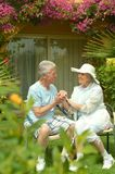 Senior couple at the resort Royalty Free Stock Images