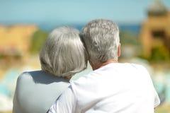 Senior couple at the resort Stock Photo
