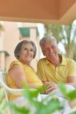 Senior couple at the resort Stock Photos