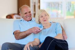 Senior couple resting at home Stock Image
