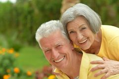 Senior couple resting at the resort Royalty Free Stock Photo