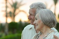 Senior couple resting at the resort Royalty Free Stock Photography