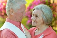 Senior couple resting Royalty Free Stock Images