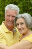 Senior couple resting at the resort Royalty Free Stock Images