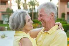 Senior couple resting Royalty Free Stock Photography