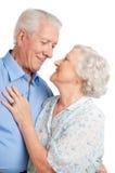 Senior couple romance stock image