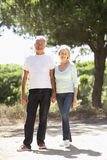 Senior Couple On Romantic Walk In Countryside Royalty Free Stock Image