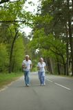 Senior couple run Stock Photography