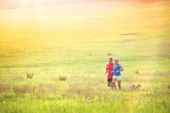 Senior couple running Royalty Free Stock Photo