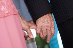 Senior couple's hands Royalty Free Stock Photo