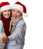 Senior couple santa. Royalty Free Stock Photo