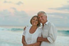Senior couple at sea Royalty Free Stock Images