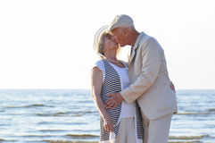 Senior couple at sea Royalty Free Stock Photography