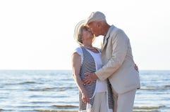 Senior couple at sea Royalty Free Stock Photography