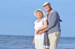 Senior couple at sea Royalty Free Stock Image