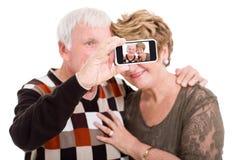 Senior couple self portrait stock photos