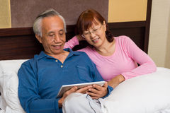 Senior couple sharing entertainment Stock Photos