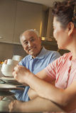 Senior couple sharing tea Royalty Free Stock Image