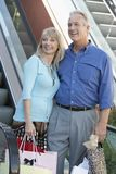 Senior Couple With Shopping Bags Royalty Free Stock Photography