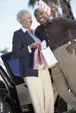 Senior Couple With Shopping Bags Royalty Free Stock Photo