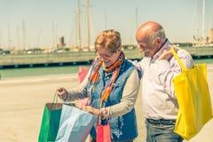 Senior couple shopping Stock Photo