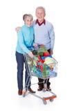 Senior couple shopping vegetables Royalty Free Stock Photography