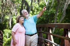 Senior Couple Sightseeing Stock Images