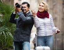 Senior couple  sightseeing Royalty Free Stock Images