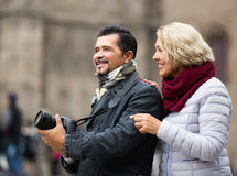 Senior couple  sightseeing Stock Image