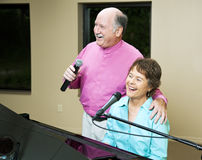 Senior Couple Singing Together Royalty Free Stock Image