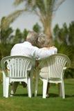 Senior couple sitting Royalty Free Stock Photography