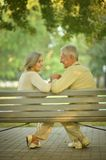 Senior couple sitting Royalty Free Stock Photo