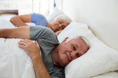 Senior couple sleeping in the bedroom Stock Photography