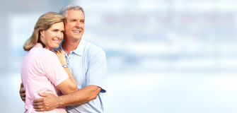 Senior couple smiling. Royalty Free Stock Images