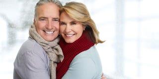 Senior couple smiling. Royalty Free Stock Photos