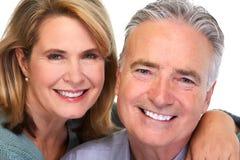 Senior couple smiling. Royalty Free Stock Images