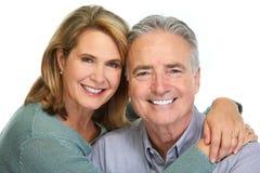 Senior couple smiling. stock photo