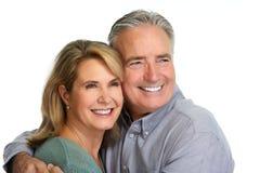 Senior couple smiling. royalty free stock image