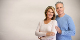 Senior couple smiling. Stock Photos