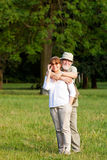 Senior couple smiling Royalty Free Stock Images