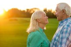 Senior couple smiling. Stock Image