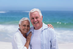 Senior couple smiling and posing Stock Images