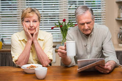 Senior couple spending the morning together Stock Photos