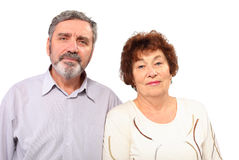 Senior couple stand together Stock Photos